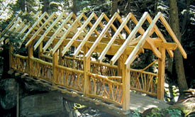 Elm timber frame bridge