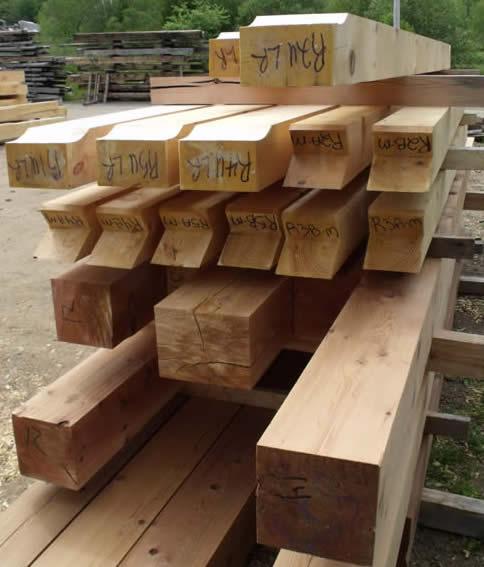 Pre Cut Timber Frame: PineandCedarTimberFrameHome_CapeBreton