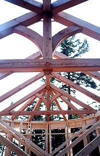 Timber frame - Beautiful reclaimed Douglas fir