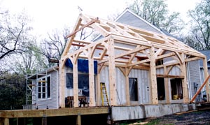 Timber framing - a great addition to most homes