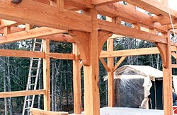 "Timber framing - ""soon to be the kitchen"""