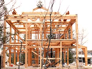 Timber framing - A timber frame looks like it belongs in the landscape