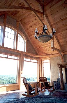 Timber Framing - warmth of wood luxury of spaciousness