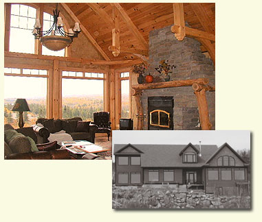 Timber Frame with a stunning view inside and out