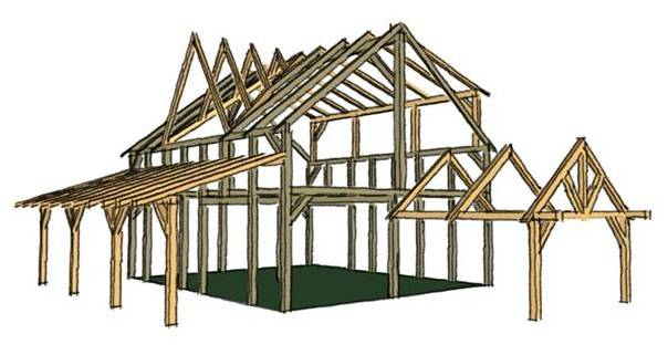 Reclaimed Timber Frame For Sale 28 X34